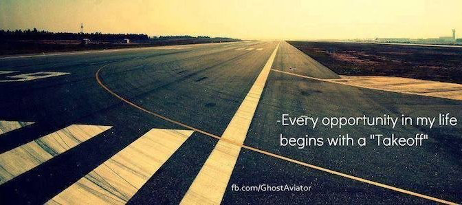 Every Adventure Begins with a Take off