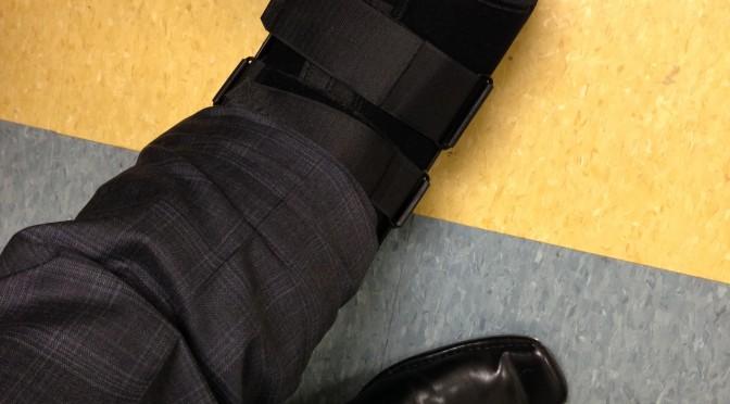 Broken toe...