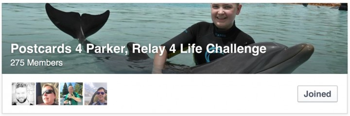 ACTION! Postcards 4 Parker, Relay 4 Life Challenge #Pulling4Parker